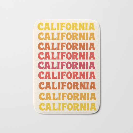 Stylin' - 70's retro throwback cali socal 1970s style art decor minimalist Bath Mat
