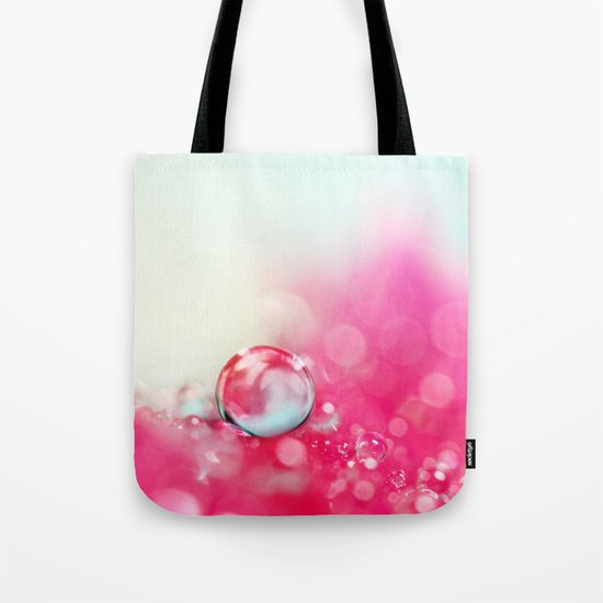 A Drop with Raspberrys and Cream Tote Bag