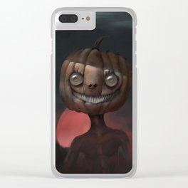 Scary Smile Clear iPhone Case