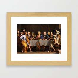 Composer's Last Brunch Framed Art Print