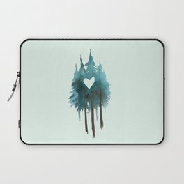 Forest Love - heart cutout watercolor artwork Laptop Sleeve