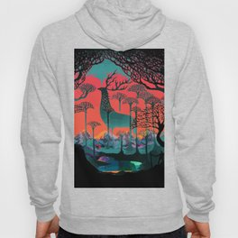 Forest Spirit Deer Woodland Illustration Hoody