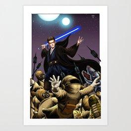 Anakin's  Rage Art Print