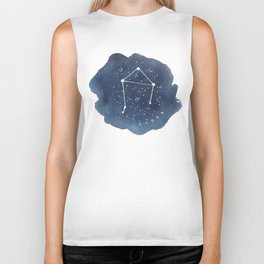 libra constellation zodiac Biker Tank