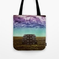 sonic Tote Bags featuring Sonic Field by Liall Linz