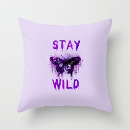 Stay Wild Butterfly Throw Pillow