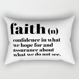 faith definition Rectangular Pillow