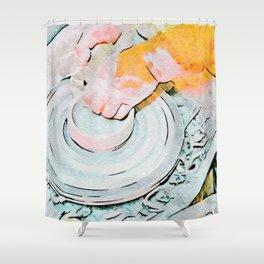 Hands of the ceramist craftsman Shower Curtain