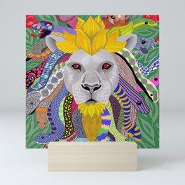Medusa Lion(ess) Mini Art Print