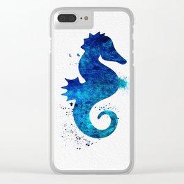 Sea Horse 018 Clear iPhone Case