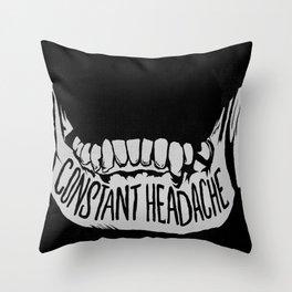 Constant Headache Throw Pillow