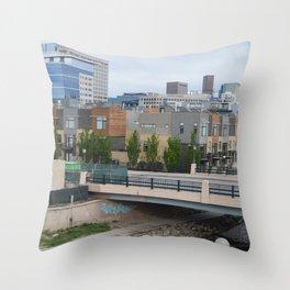 Denver Skyline & Condos Throw Pillow