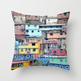 Venezuelan Tetris Throw Pillow