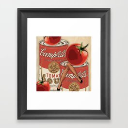 Miss Tomato Contemplates Her Future Framed Art Print