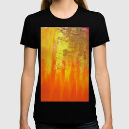 Aflood with gold and rose T-shirt