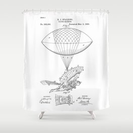 patent art Spalding Flying Machine 1889 Shower Curtain
