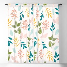 tree leafs 88 - multi-colors Blackout Curtain