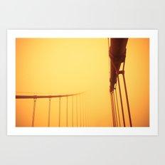 Golden - Golden Gate Bridge Art Print