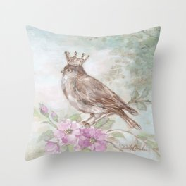 French Crown and Feathers Throw Pillow