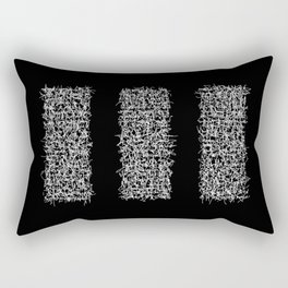 tri black Rectangular Pillow