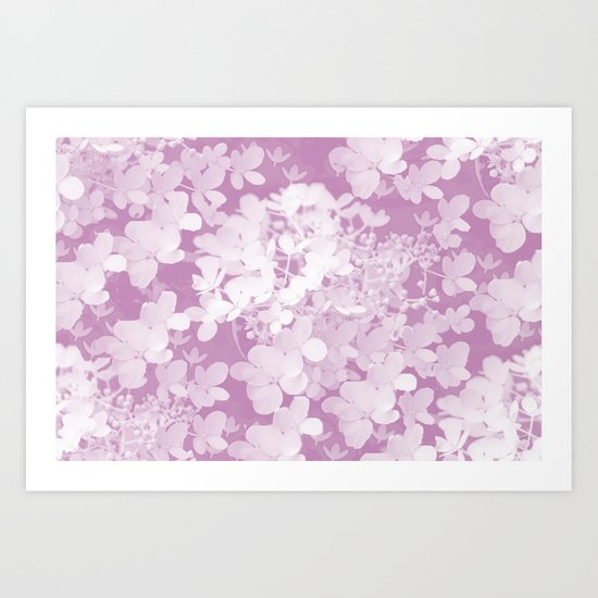 Little Flowers in Pastel colors Art Print