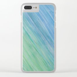 Greens and Blue Clear iPhone Case