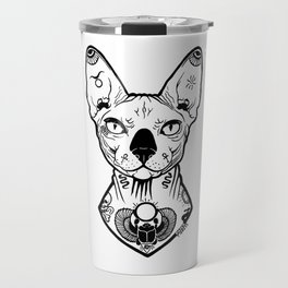 Sphynx Tattooed Travel Mug
