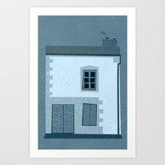 La maison et l'oiseau Art Print