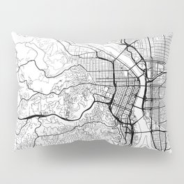 Portland Map White Pillow Sham