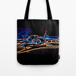 Neon Jet Tote Bag