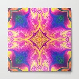 Psychedelic Three Metal Print