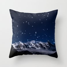 At the roof of the world Throw Pillow