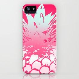 Pink Pineapple Tropical Beach Design iPhone Case