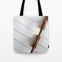 banjo Tote Bags featuring Banjo by Montana Magic Photography