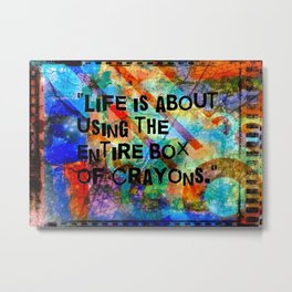 Crayon Box 2 Metal Print