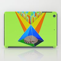racoon iPad Cases featuring Crystal Racoon by Cariann Dominguez