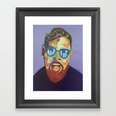 Screaming man Framed Art Print