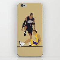 lakers iPhone & iPod Skins featuring Step Over Lue by Steven Paris
