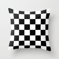 chess Throw Pillows featuring Chess by ArtSchool
