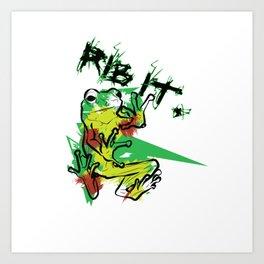 Ribbit! Art Print