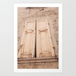Travel in Italy / visit smal village / adventure / in wonderfull Toscane / shutters Art Print