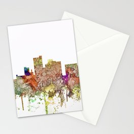 Lubbock, Texas Skyline - Faded Glory Stationery Cards