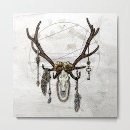 Bestial Crowns: The Elk Metal Print