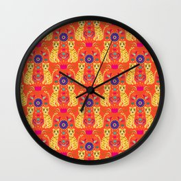 Indian Kitsch art Wall Clock