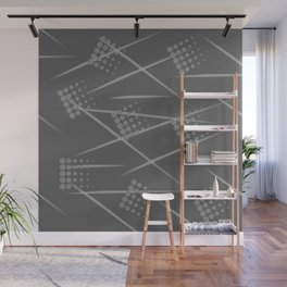 Gray abstract background. Grey Sport style Wall Mural