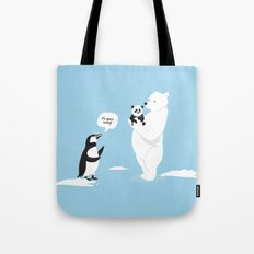 How little Pandas are born Tote Bag