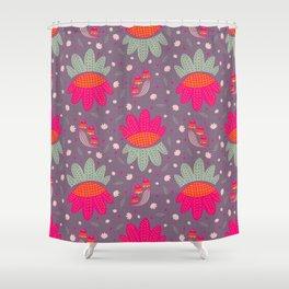 Folk Flower 1 Shower Curtain