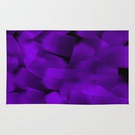 Translucent Stripes of Purple Ribbon Rug