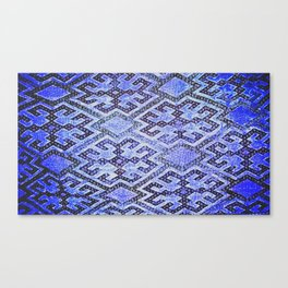 Blue Oriental Rug Canvas Print
