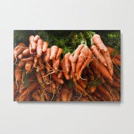 Carrots Straight Up Metal Print